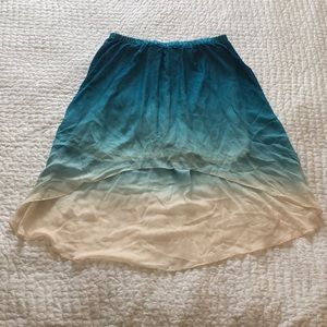 Forever 21 high-low ombré skirt